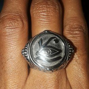 Eye of Horus silver ring!
